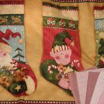 Calcetines de Navidad de Nancy Halvorsen y telitas