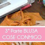 3ª parte COSE CONMIGO BLUSA 1B BURDA EASY OCTUBRE 2015 (BAJO, VISTAS Y LAZADA)