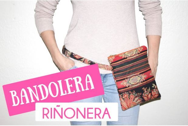 riñonera bandolera tutorial