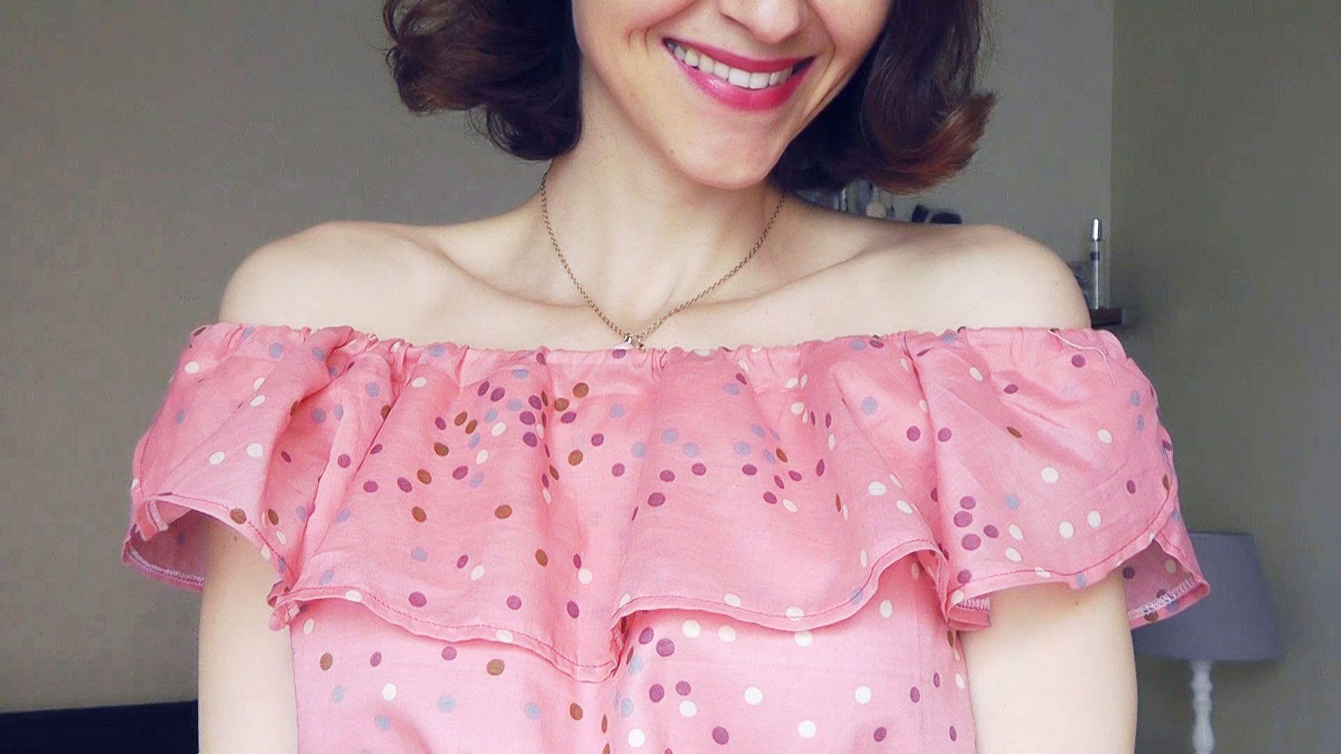 Cose conmigo Vestido Burda Easy modelo3 Hombros al aire