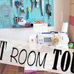 SEWING ROOM TOUR  | MI CUARTO DE COSTURA