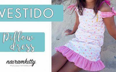 VESTIDO DE NIÑA TIPO PILLOW DRESS I COSTURA