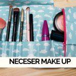 Cómo hacer un neceser de maquillaje roll up de viaje