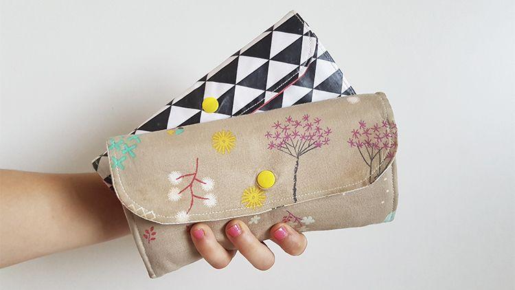 Aprende a coser una cartera monedero de mujer con mi curso online: Monedas, tickets y billetes, todo ordenado