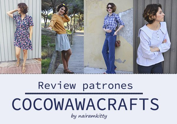 Review patrones Cocowawacrafts: llilyblouse, chesnut top, cinammon trousers y honeycomb dress